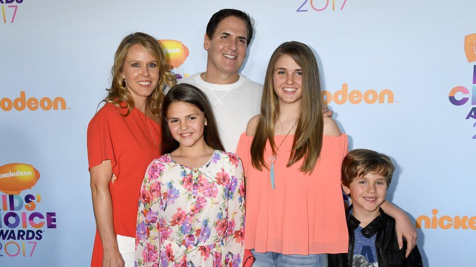 Mark Cuban and his family