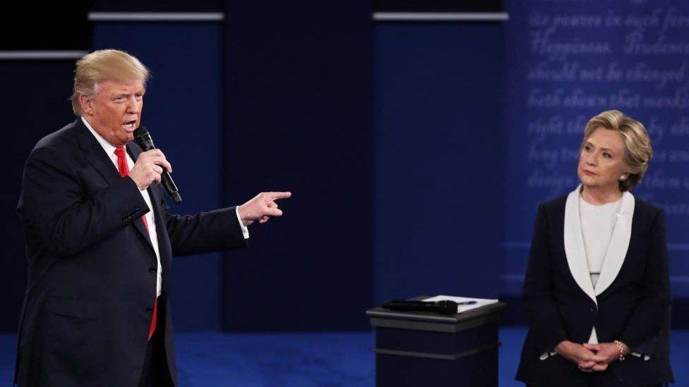 Trump a Clinton