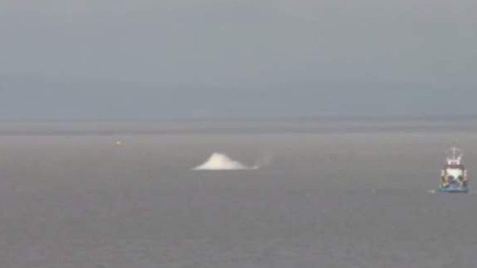 Bristol Channel WW2 bomb destroyed in a controlled explosion
