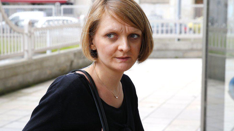Rachel Lambert outside a court in 2016