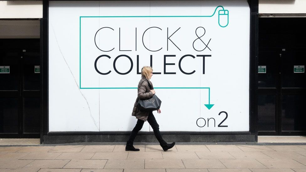click and collect sign