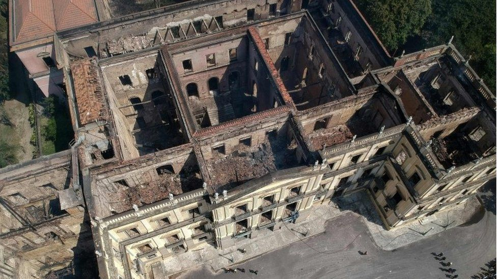 Destroyed National Museum in Brazil, Rio, 3 September 2018