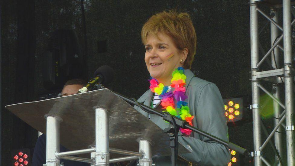 Nicola Sturgeon at Pride Glasgow