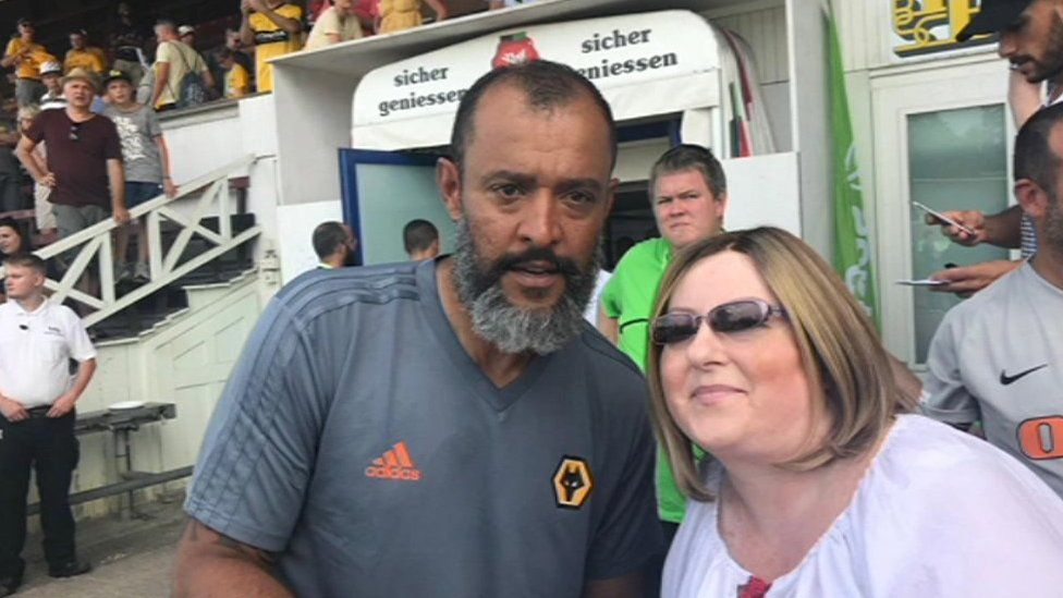 Claire Elliott and Wolverhampton Wanderers' manager