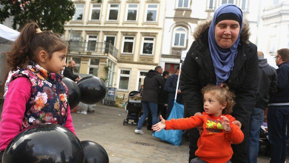 Syrian refugees in Hamburg