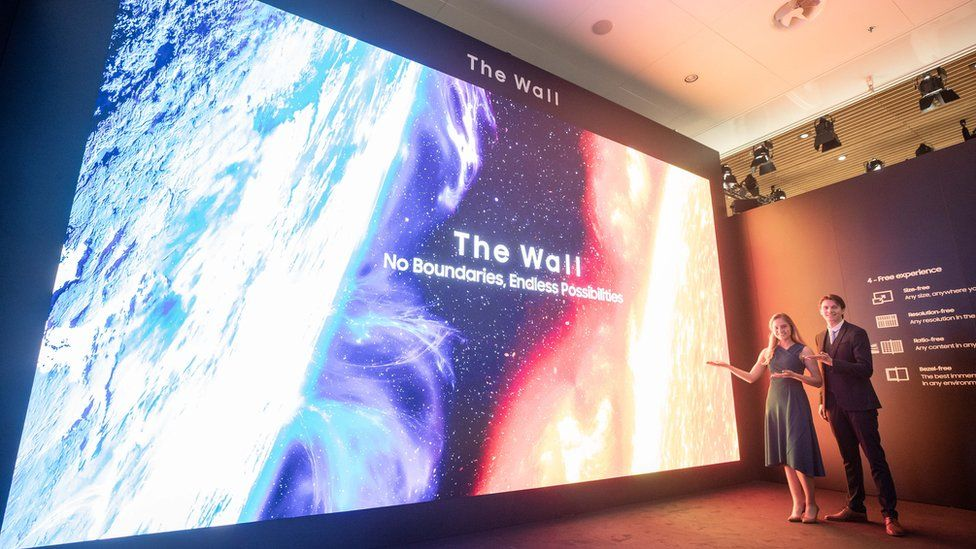 Samsung's giant screen, called the Wall