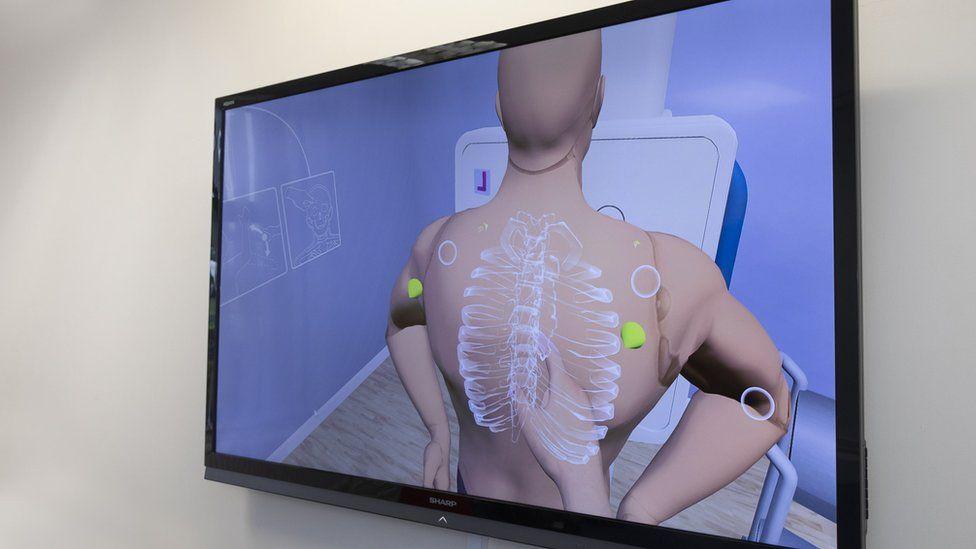 A virtual X-Ray on screen