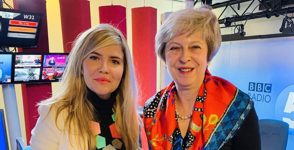 Emma Barnett and Theresa May