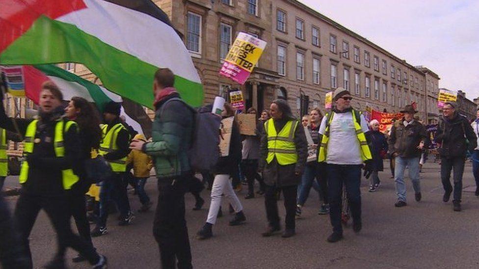 March in Glasgow