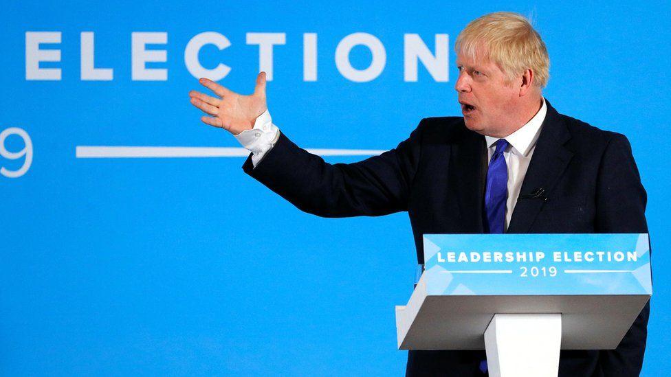 Boris Johnson addresses the hustings in Nottingham