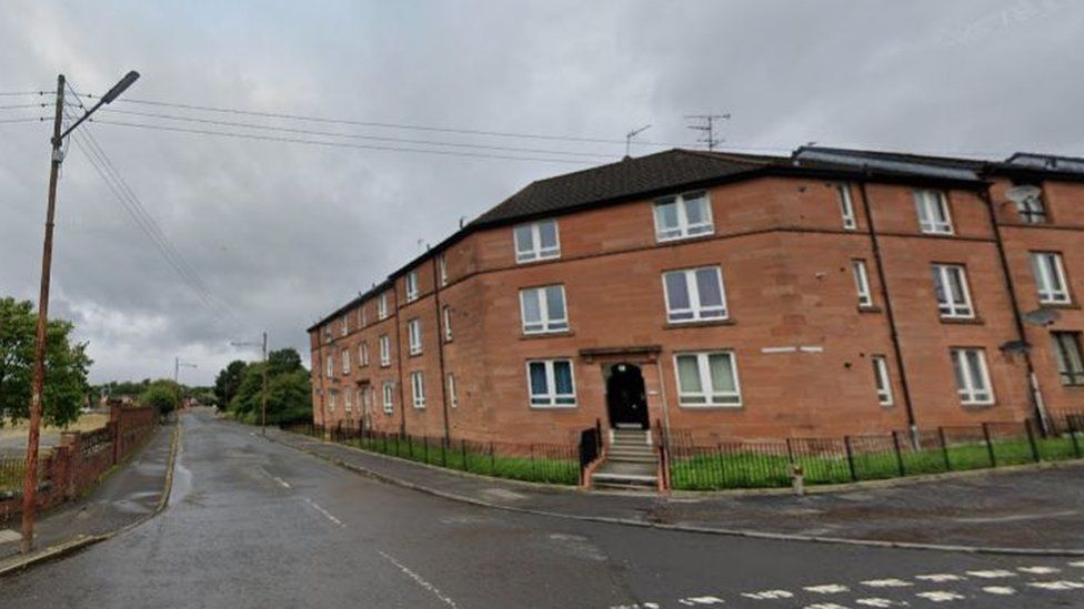 The man died after a disturbance in a garden on Elmvale Street in Springburn