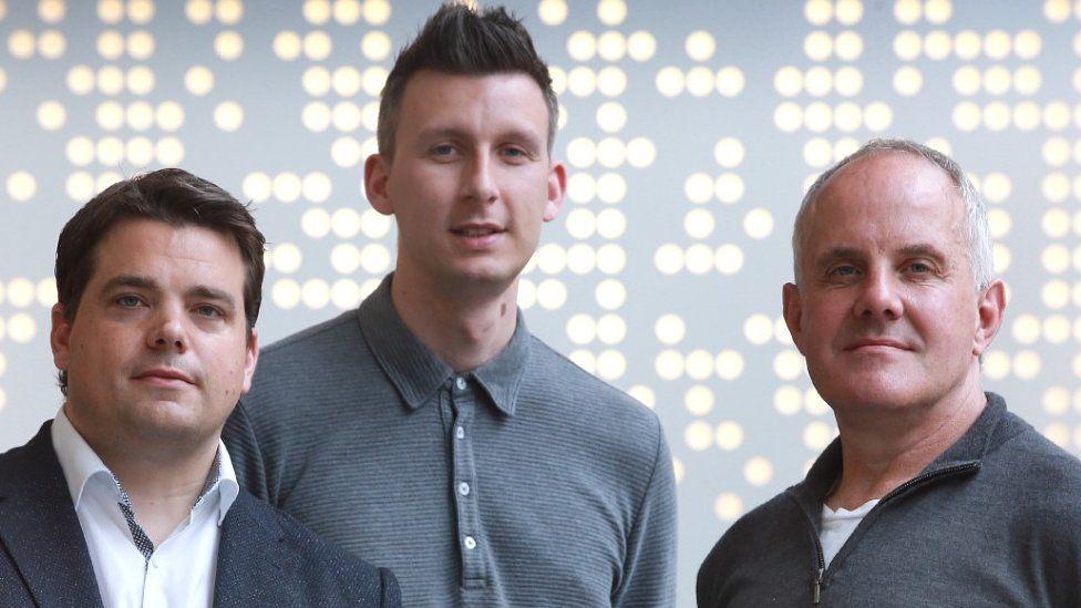 (left to right) Andrew Parfery, Andrew McGinley and Graham Jones