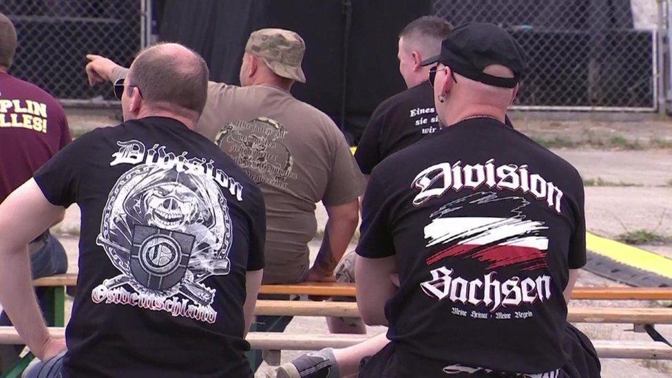 Far-right fans at Ostritz festival, ZDF screenshot