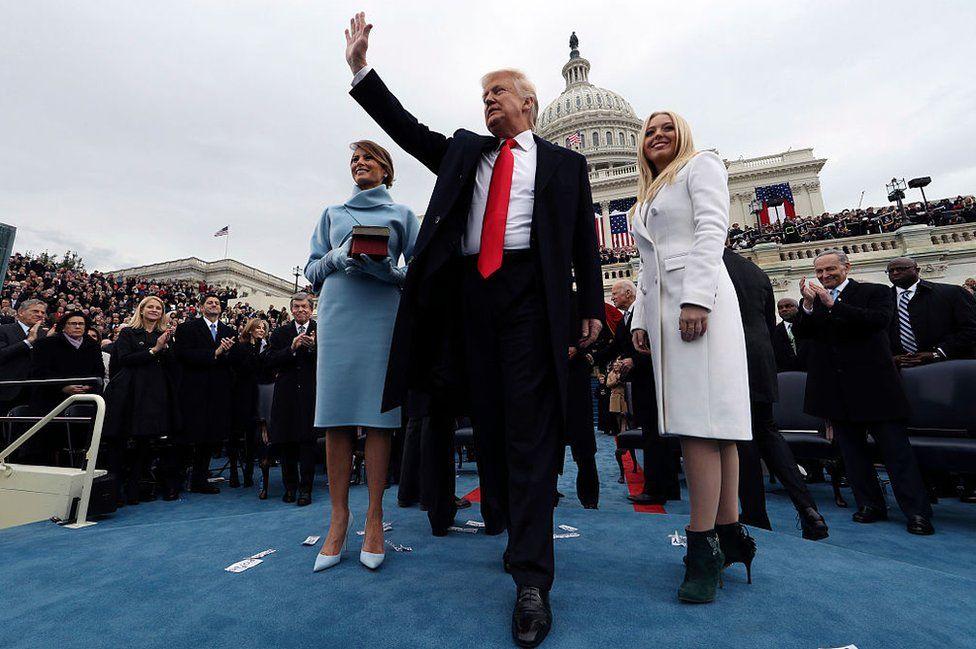 Trump at the inauguration