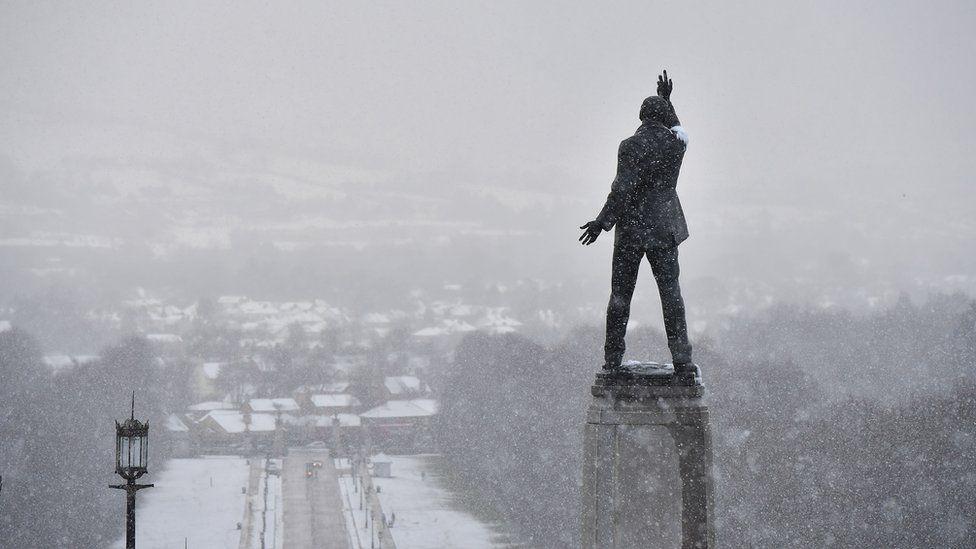 Statue outside Northern Irish parliament