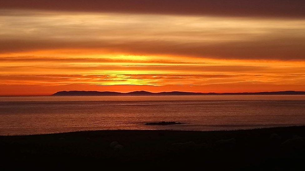 Sunset at Corsewall lighthouse