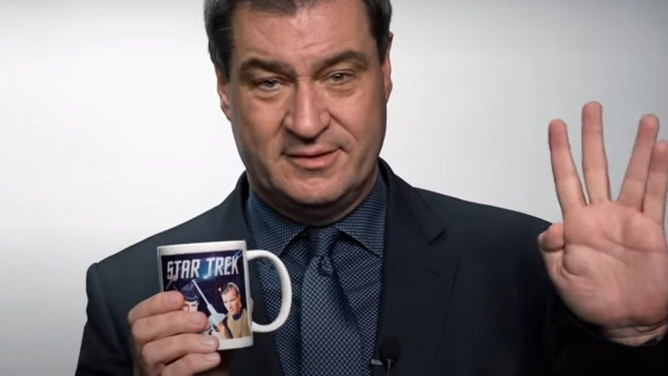Markus Söder: Star Trek fan who could boldly go and lead Germany thumbnail
