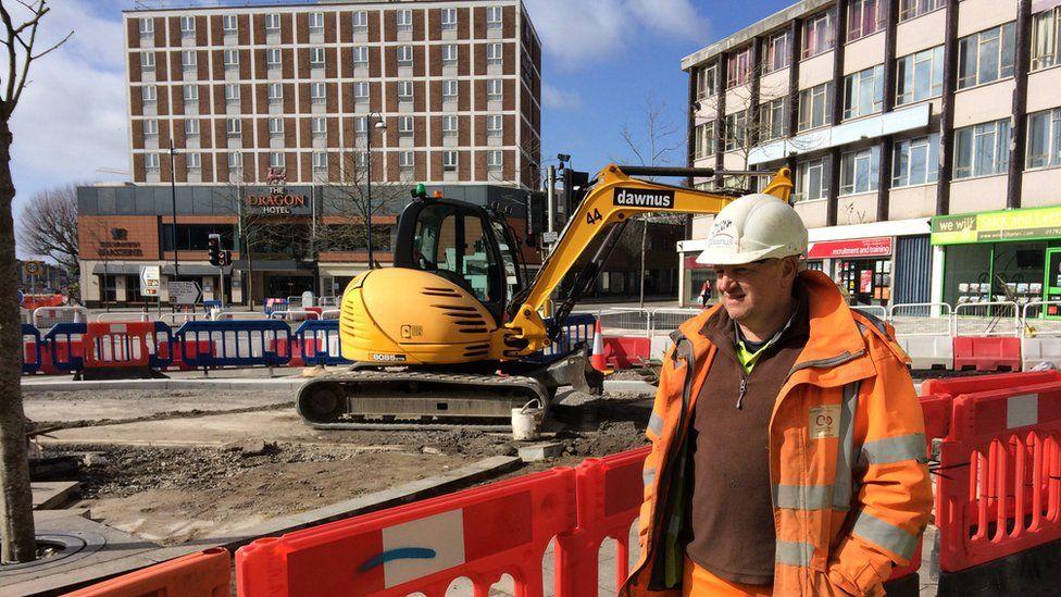 Work at Swansea's Kingsway