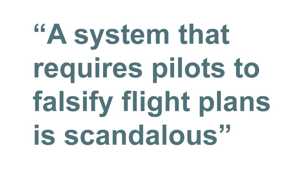 Quotebox: A system that requires pilots to falsify flight plans is scandalous