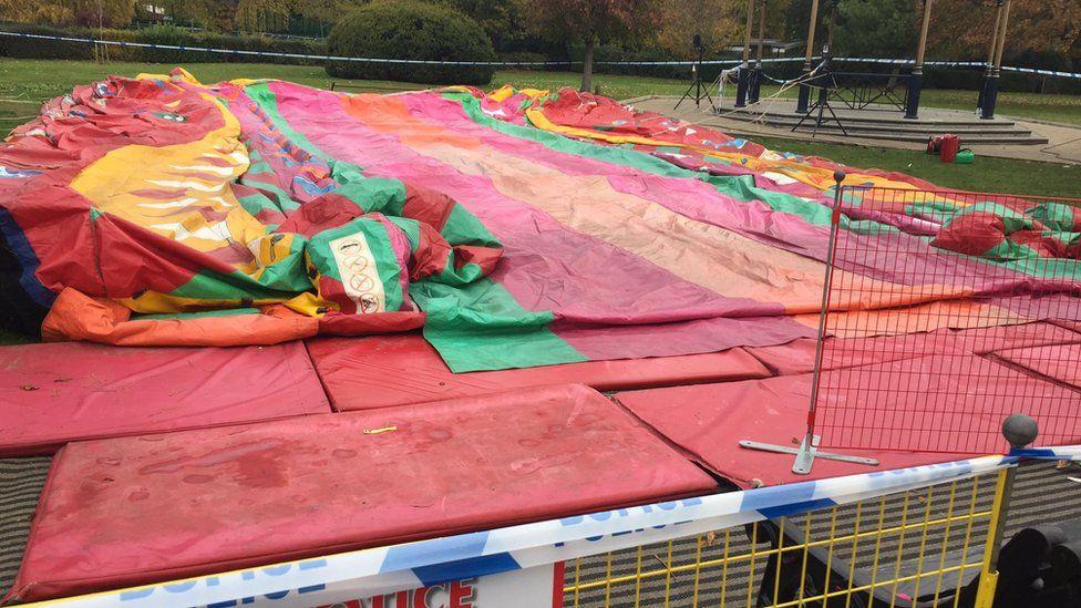 Deflated inflatable