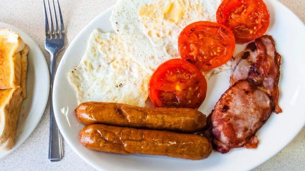 A fried breakfast