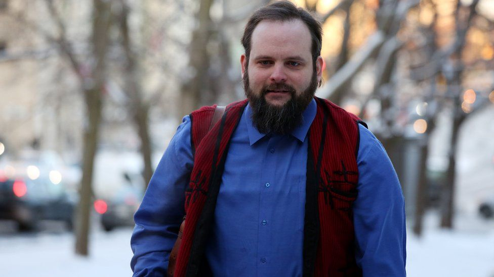 Former Afghan hostage Joshua Boyle arrives at the Ottawa courthouse