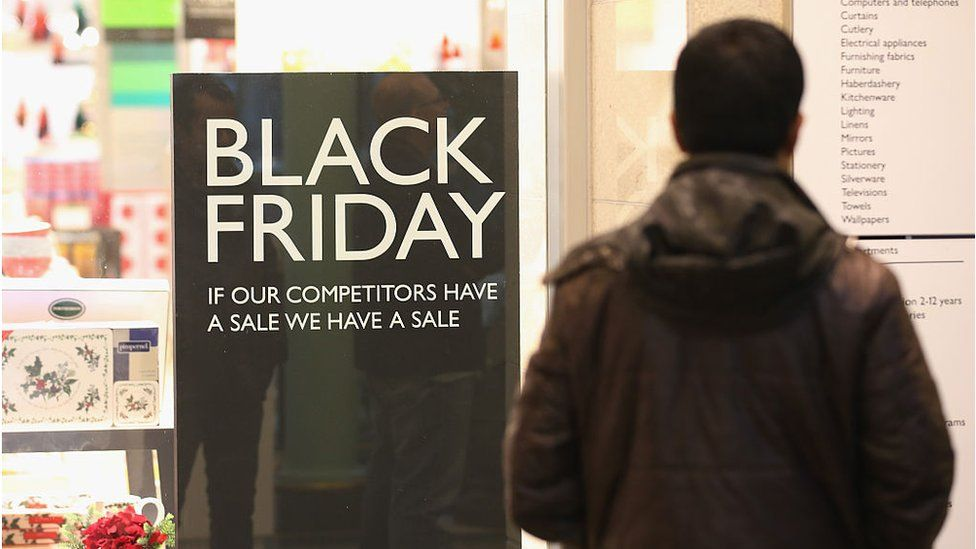 A Black Friday sale sign