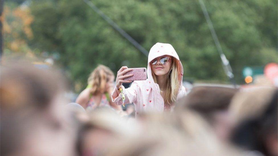 Festival-goers at V Fest in Staffordshire