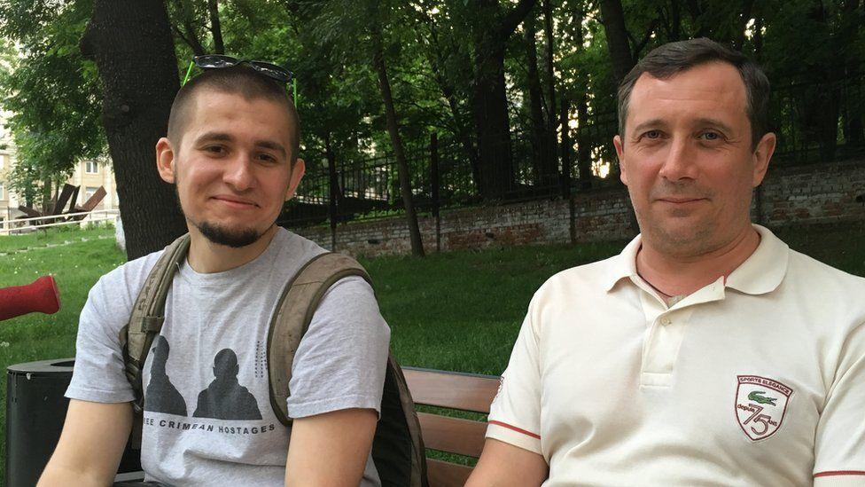 Alexei Polikhovich (l) and Alexander Margolin (r)