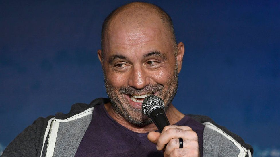 Comedian Joe Rogan performs during his appearance at The Ice House Comedy Club on August 07, 2019 in Pasadena, California
