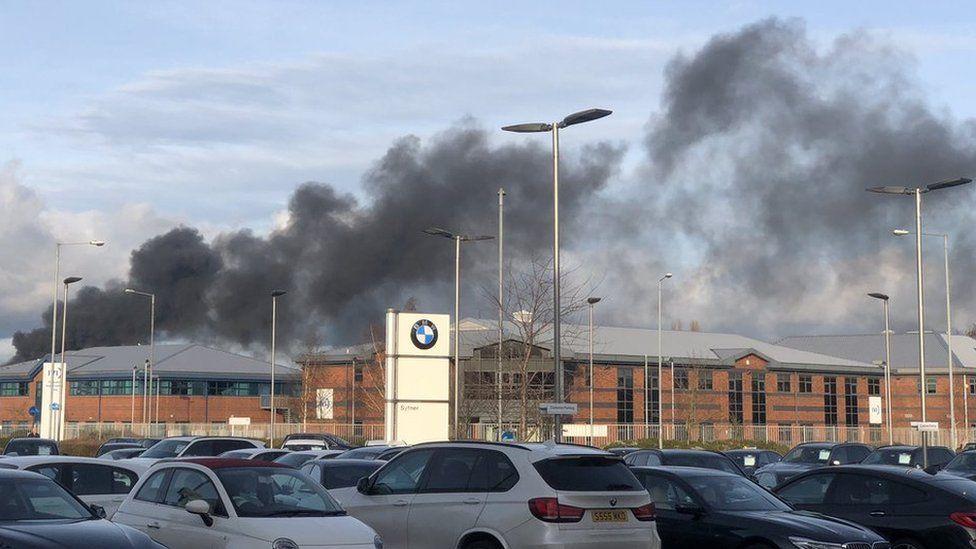 Fire in Tamworth