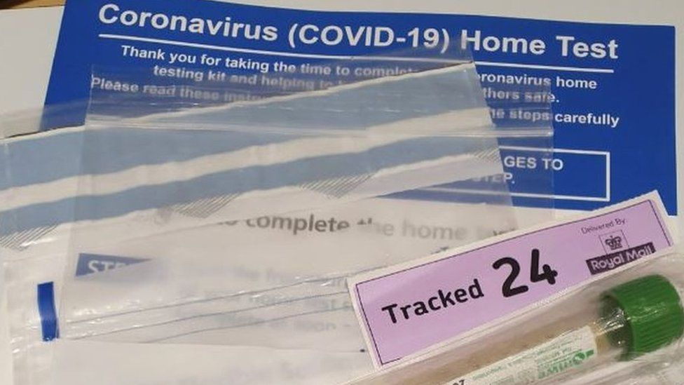 A pack of home testing kits