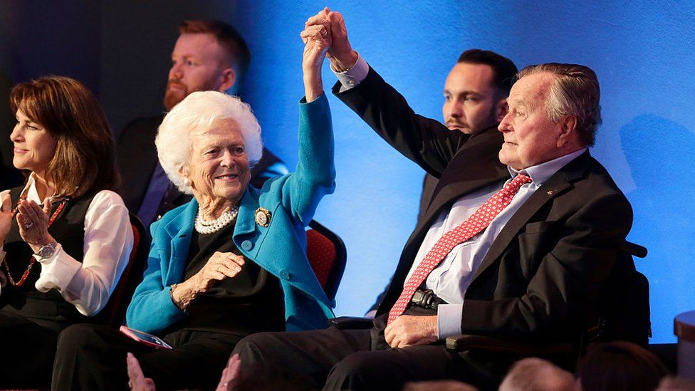 Mr and Mrs Bush