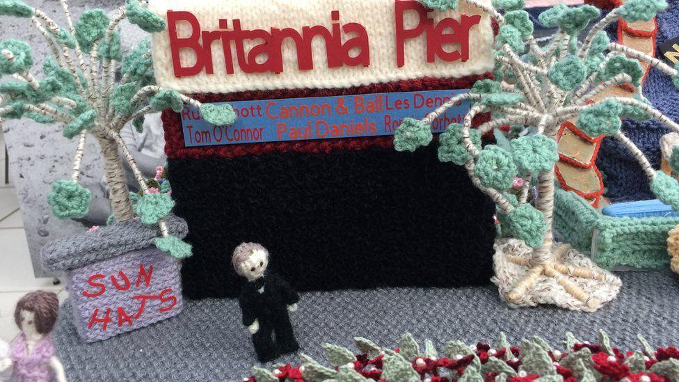 A knitted Britannia Pier, Great Yarmouth