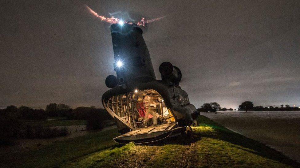 RAF Chinook in Bentley, Doncaster (2019)