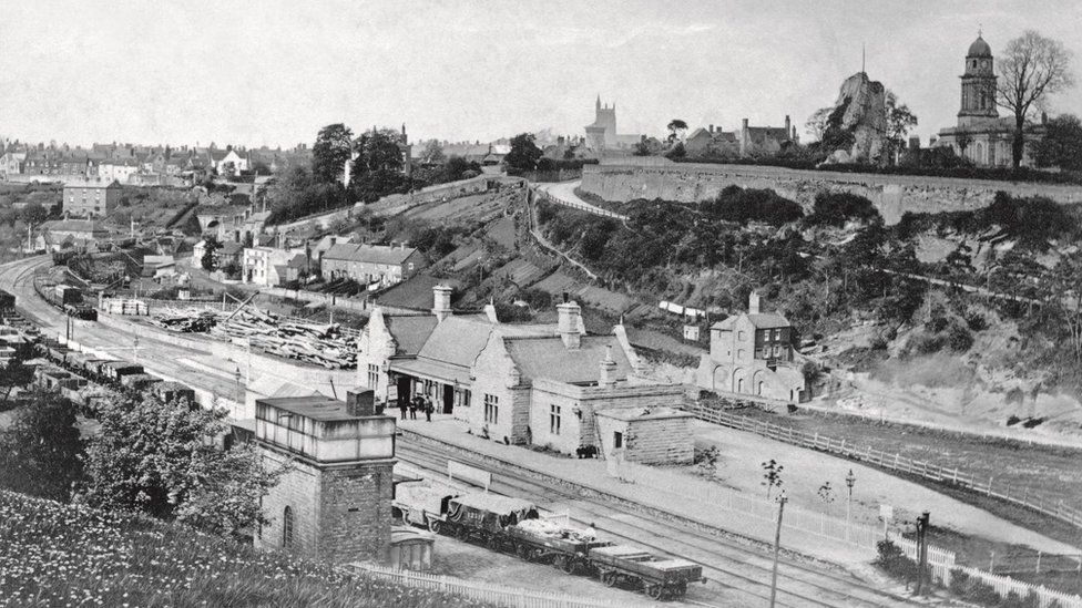 The station at Bridgnorth in 1862