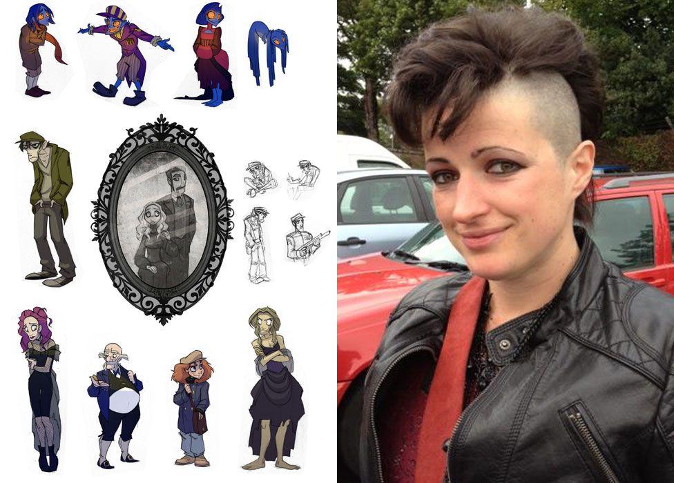 Tanya Roberts and artwork