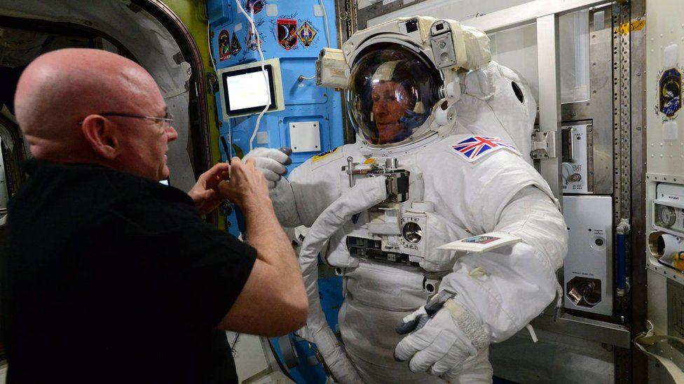 Tim Peake in his spacesuit