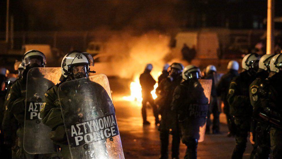 Riot police in Greece