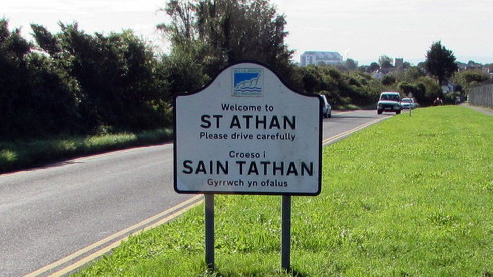 Road sign for St Athan