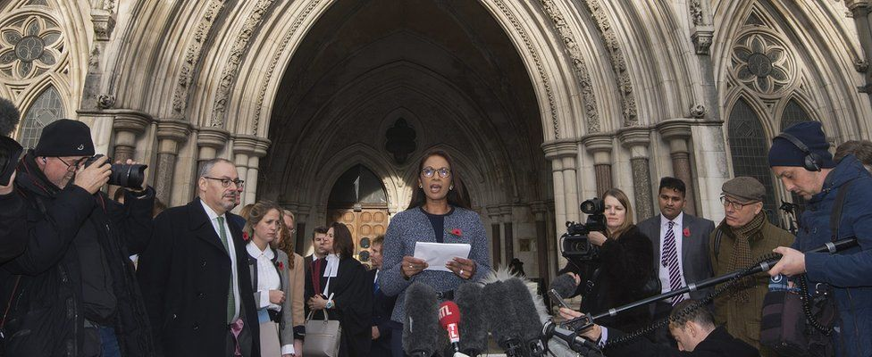 Gina Miller reads statement after the High Court judgement in the Article 50 case