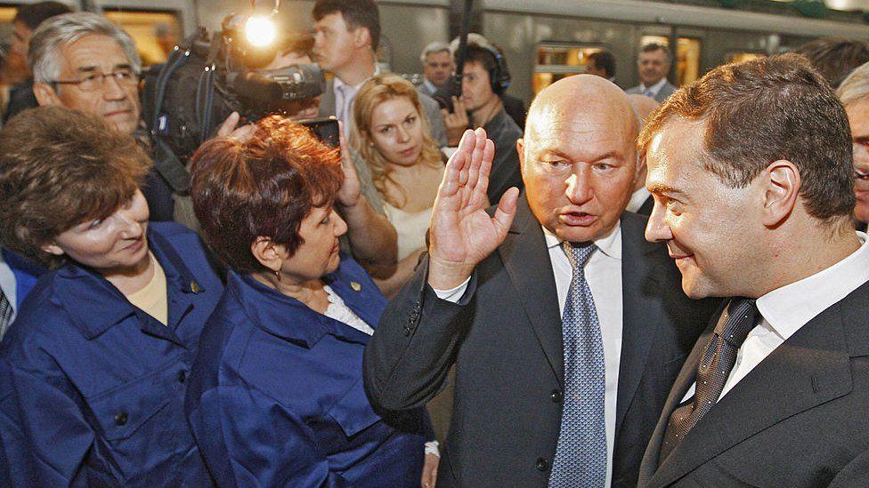 Работницы метро, Лужков, Медведев