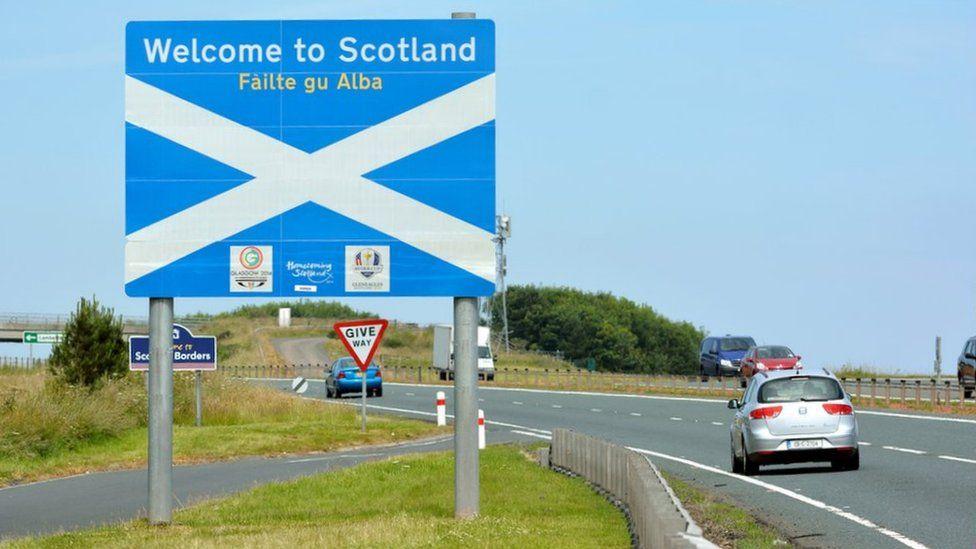 Scottish border sign