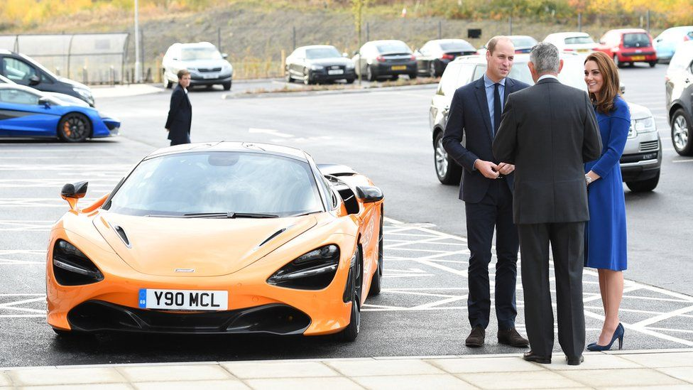 Duke and Duchess of Cambridge arrive to officially open the McLaren Centre in Rotherham