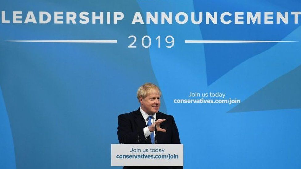 Boris Johnson was elected Conservative leader after winning over 92,000 votes