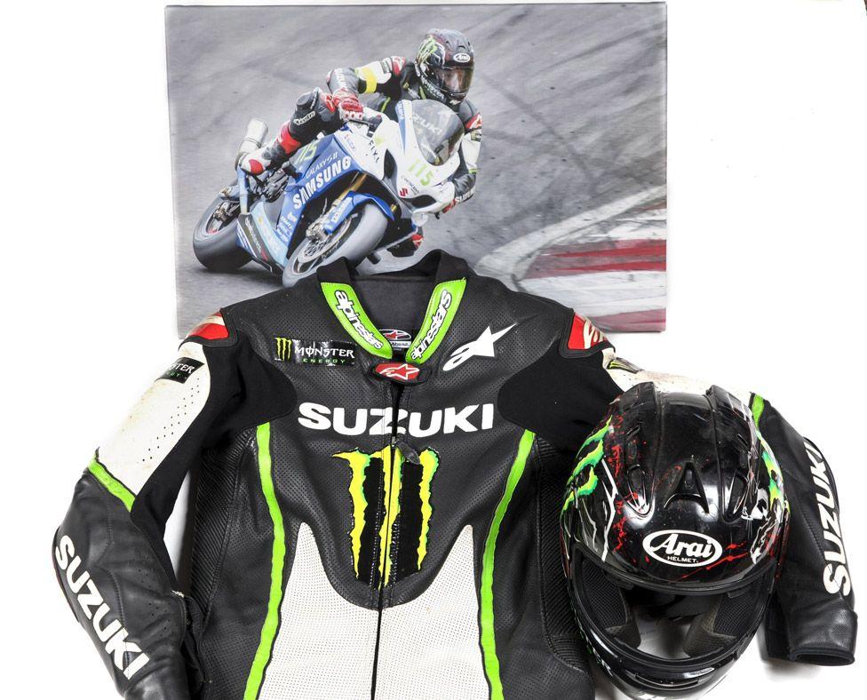 Keith Flint's motorbike leathers