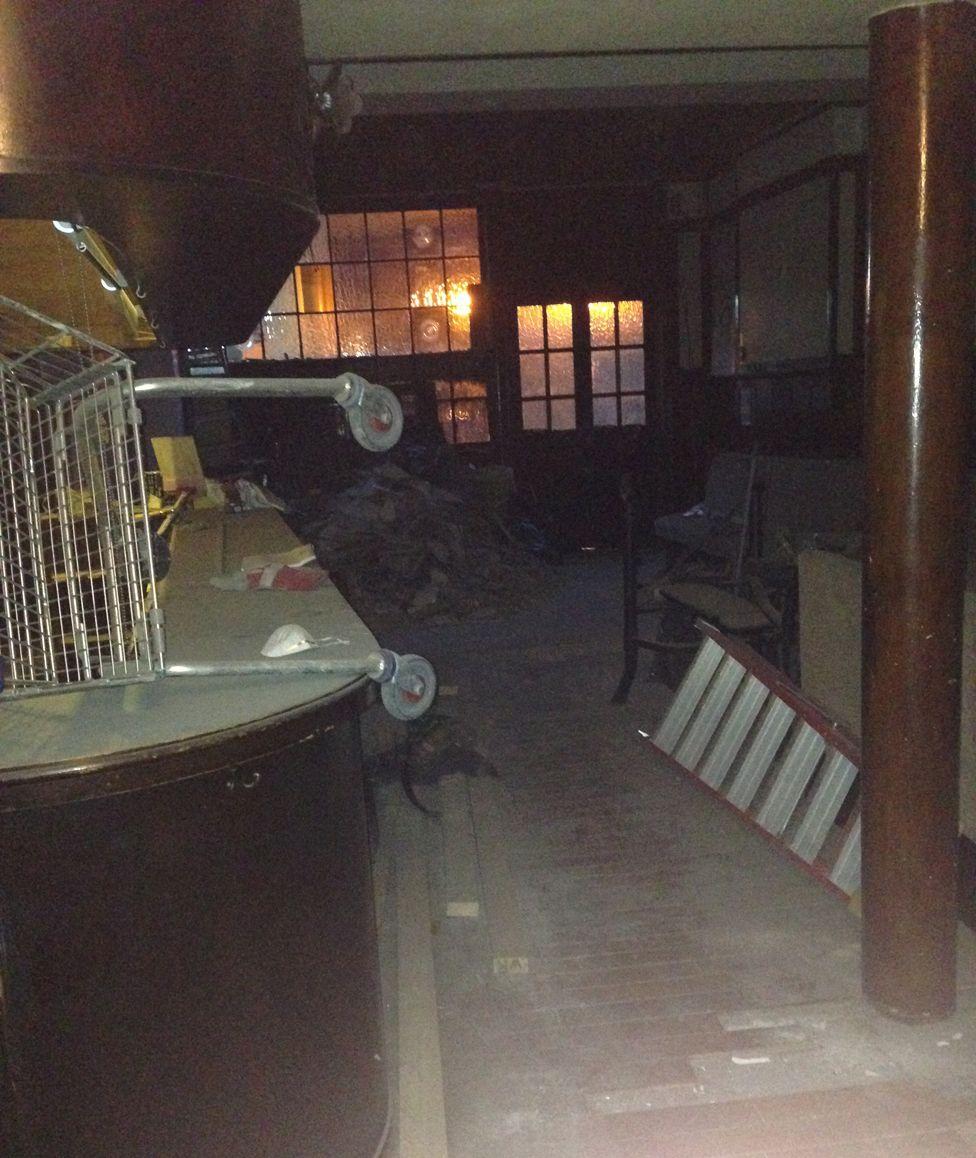 The interior of a pub where guardian Ed Moyse lived