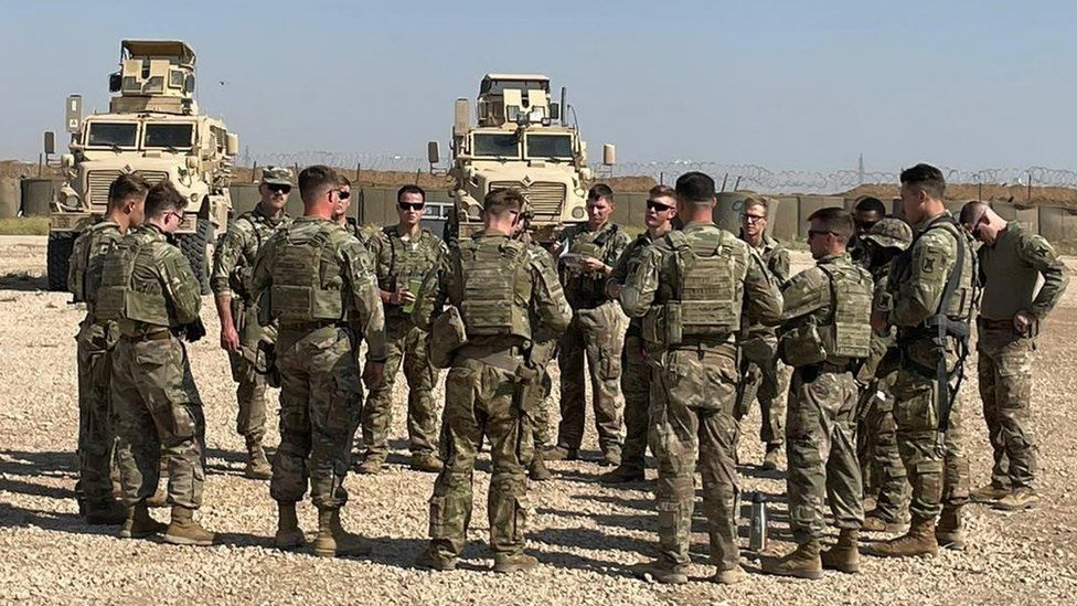 Louisiana National Guard troops on the ground in north-eastern Syria