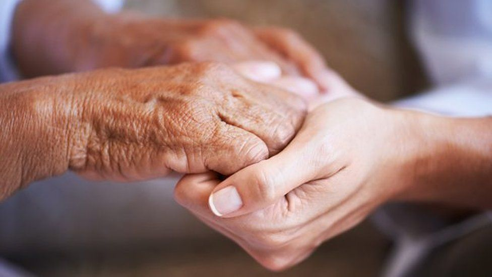Hands - old and young