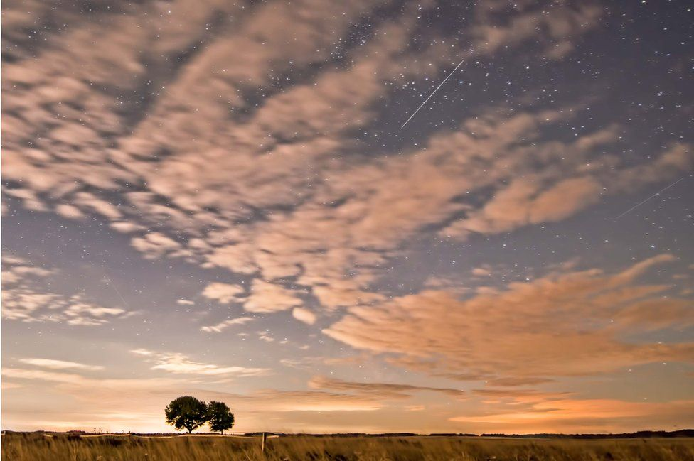 Perseid meteor shower in Chilton, Oxfordshire